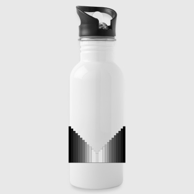 black-white-black symmetry - Water Bottle