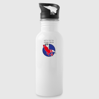 LET'S FLY TO OTTERSPACE - RED RACETS - Water Bottle