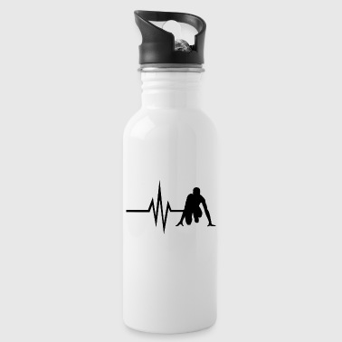 My heart beats for Running - Sprint Jogging Fit - Water Bottle