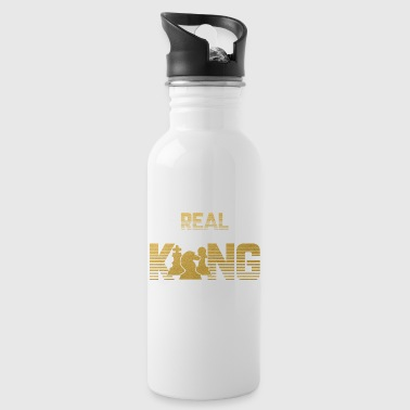 Real King - Chess Chessmatt Strategy King - Water Bottle
