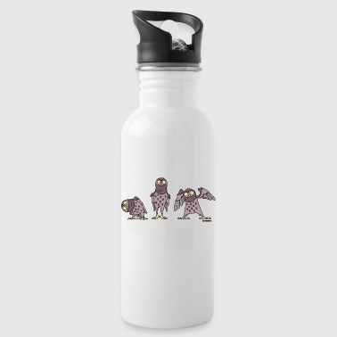 Owls - purple - Water Bottle