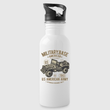 MILITARY OFFROAD JEEP - US Army Jeep Shirt Motiv - Trinkflasche