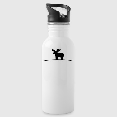 Moose silhouette - Water Bottle
