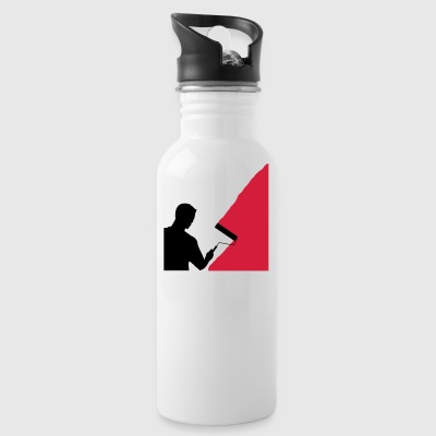 Painter and painter - vector - Water Bottle