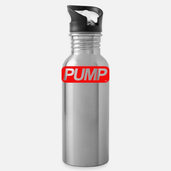 Body Building Tassen & Becher - Pump - Trinkflasche Lightsilver