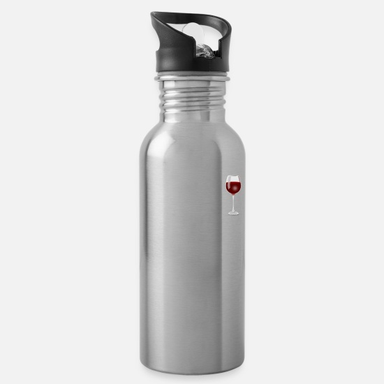 Drink Mugs & Drinkware - drink wine and pet my labrador retriever - Water Bottle silver