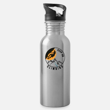 Mountain Climbing climbing, climbing, mountains - Water Bottle