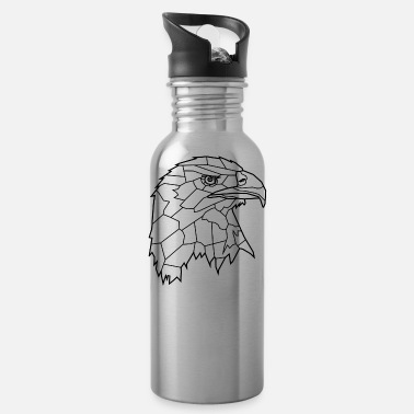 Bewinged Eagle Line Art - Water Bottle
