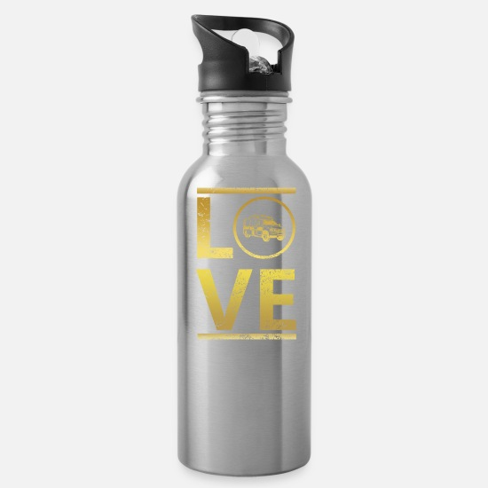 Love Mugs & Drinkware - love calling profi king master ambulance ambul - Water Bottle silver