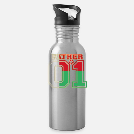 Love Mugs & Drinkware - Father dad father 01 Madagascar - Water Bottle silver