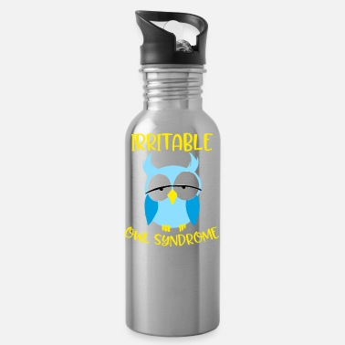 Nocturnal Bird Irritable Owl Syndrome Funny Nocturnal Birds - Water Bottle