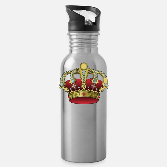Monarchy Mugs & Drinkware - crown - Water Bottle silver