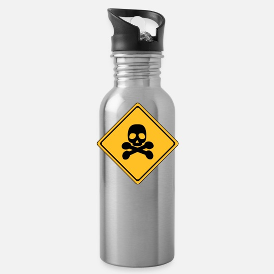 Gift Idea Mugs & Drinkware - Danger - Water Bottle silver