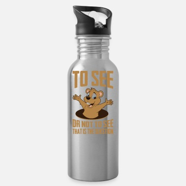 Hog That Is The Question, Ground-Hog Woodchuck - Water Bottle