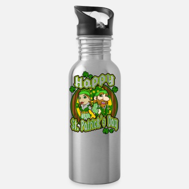 Greenman St Patrick's Day couple holiday gift surprise - Water Bottle