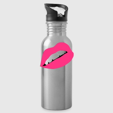 Kissing Lips Lips Lips Mouth Kiss Kiss - Water Bottle