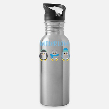 Winter Penguin - Winter - Gift - Sweet - Penguins - Water Bottle