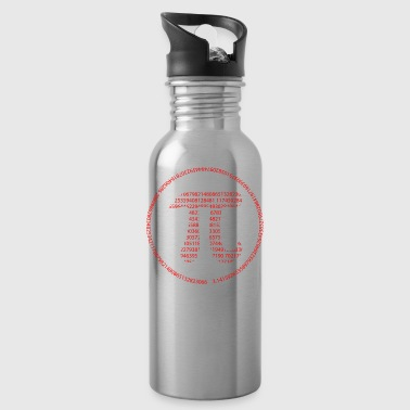 Pi - Pi Day - red - Water Bottle
