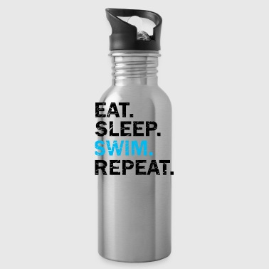 Eat Sleep Swim Repeat used look - Water Bottle