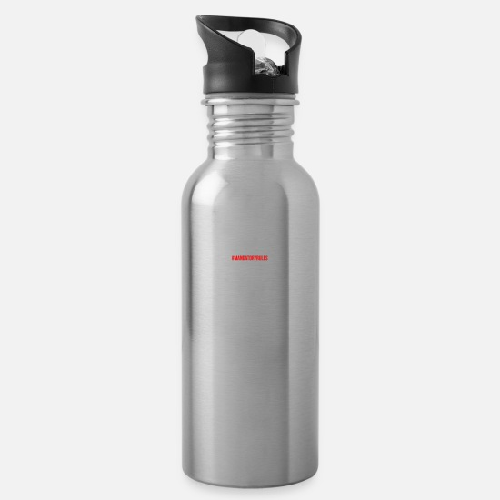 Personal Mugs & Drinkware - Personal trainer - Water Bottle silver