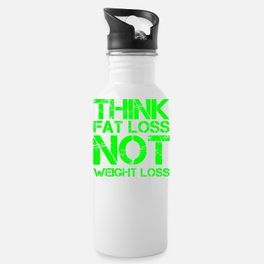 At A Loss think fat loss - not weight loss - Water Bottle