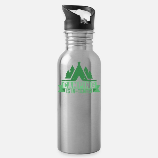Camping Mugs & Drinkware - CAMPING - Water Bottle silver