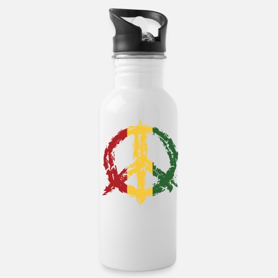 Peace Sign Mugs & Drinkware - Peace Sign Peace Sign - Water Bottle white