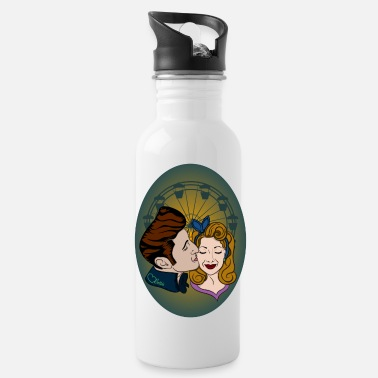 Love Collection V2 Rockabilly-Couple at Ferris Wheel - Water Bottle