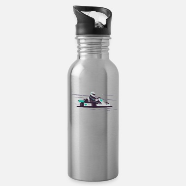 Race Track Karing GoKart race track motor racing hobby - Water Bottle