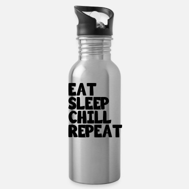Slow Eat Sleep Chill Repeat saying gift - Water Bottle