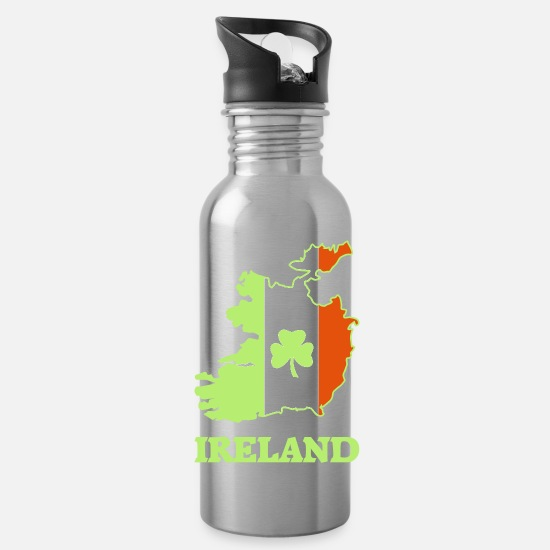 Irish Mugs & Drinkware - ireland_logo - Water Bottle silver