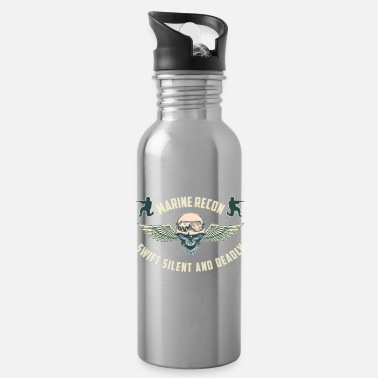 Marine Wife marine recon swift silent and deadly - Water Bottle