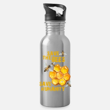 Save save the bees save humanity - Water Bottle