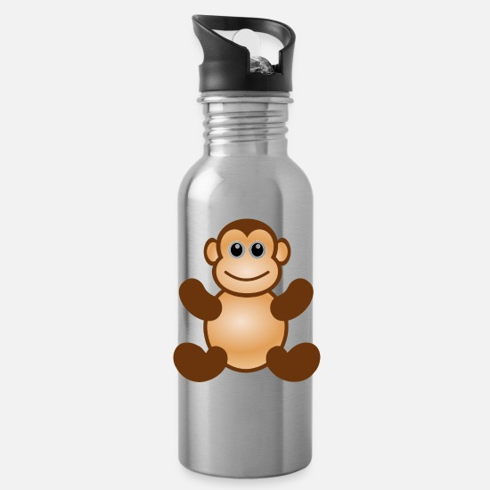 Monkey Mugs & Drinkware - Monkey collection - Water Bottle silver