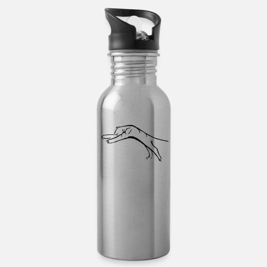 Tiger Shark Mugs & Drinkware - LoPi Tiger collection - Water Bottle silver