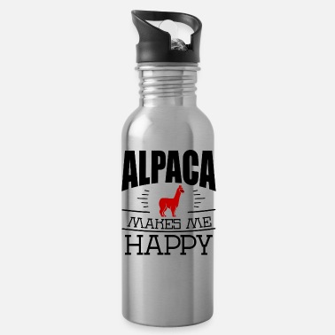 Alpaka Alpaca makes me happy - Trinkflasche