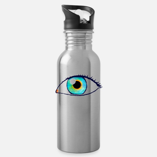 Paradox Mugs & Drinkware - eye - Water Bottle silver