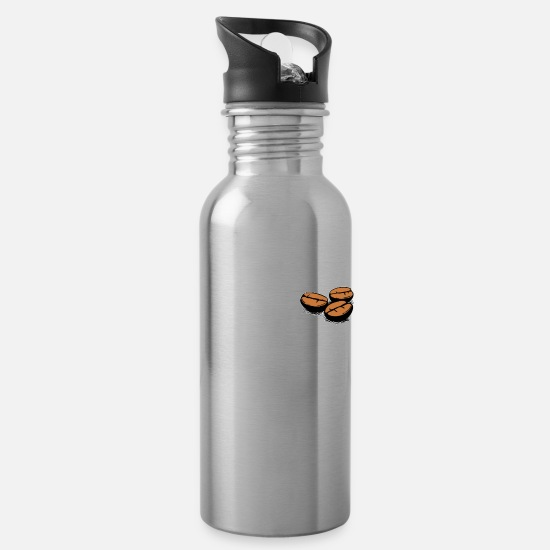Birthday Mugs & Drinkware - Coffee Bean Coffee - Addicted - Water Bottle silver