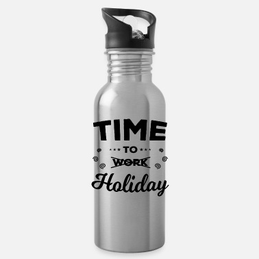 Time To Holiday - Water Bottle
