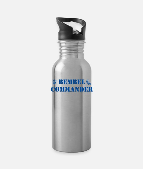 Sachsenhausen Mugs & Drinkware - Bembel Commander - Water Bottle silver