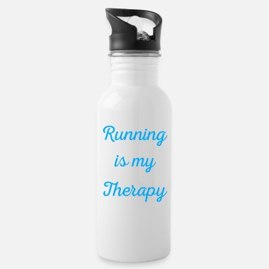 Jogging Running is my therapy saying gift - Water Bottle