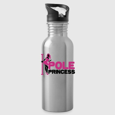 pole princess with dancing lady and a pole in high heels - Water Bottle
