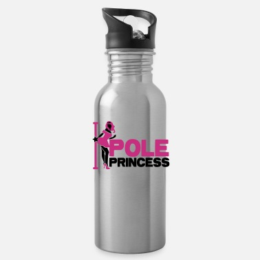 Pole Dance pole princess with dancing lady and a pole in high heels - Water Bottle
