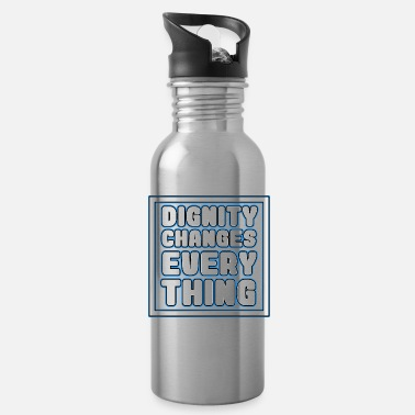 Emo Cool & Inspirational Dignity Tee Design Dignity - Water Bottle
