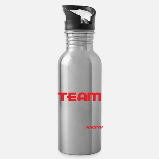 "Racing Mugs & Drinkware - Simple and extravagant ""Drift Team Automotive - Water Bottle silver"