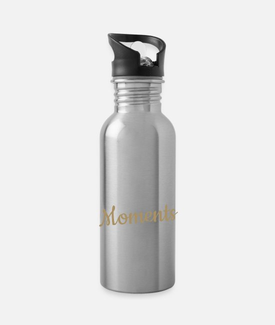 Not Mugs & Drinkware - COLLECT MOMENTS NOT THINGS - Water Bottle silver