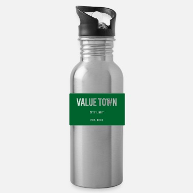 Town Value Town town sign - Water Bottle