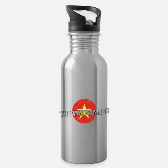 Vietnam Mugs & Drinkware - Have No Fear The Vietnamese Is Here Shirt - Water Bottle silver