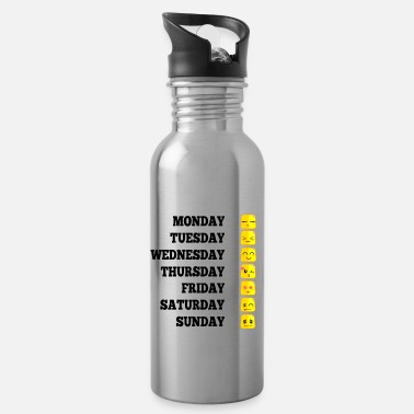 Week Emojis funny week gift mood motivation - Water Bottle