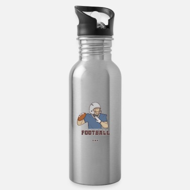 Quarterback American football quarterback playmaker - Water Bottle